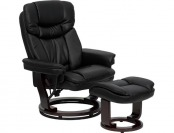 $280 off Contemporary Swiveling Leather Recliner and Ottoman