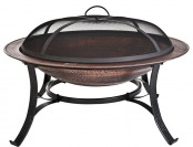 "$38 off CobraCo FB6132 30"" Round Cast Iron Copper Finish Fire Pit"
