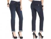 69% off Style&co. Jeans, Curvy-Fit Cuffed Ex-Boyfriend, Caneel Wash