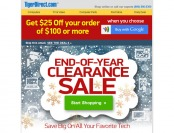 Tiger Direct End-of-Year Clearance Sale - Huge Savings