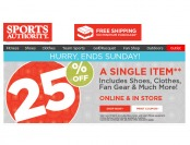 Sports Authority Holiday Sale - 25% Off A Single Item