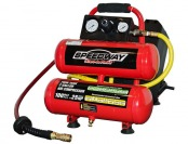 50% off Speedway 52024 Twin Stack Compressor w/ Auto Rewind Hose
