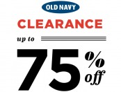 Up to 75% off Clearance Styles at Old Navy