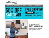 50% off SwitchArt Magnetic Frames & Prints at Allposters.com