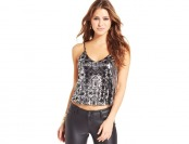 78% off Material Girl Juniors' Foil-Print Tank Top, 3 Colors