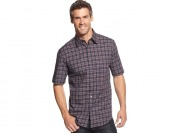 74% off John Ashford Classic Short-Sleeve Plaid Shirt