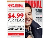 92% off Men's Journal Magazine Subscription, $4.99 / 12 Issues