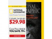 79% off National Geographic Magazine, 24 Issues / $29.98
