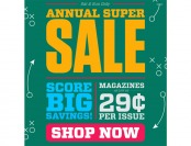 DiscountMags Annual Super Sale - As Low As 29¢ Per Issue
