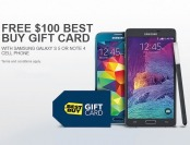 Free $100 Gift Card w/ Galaxy Note 4 or Galaxy S5