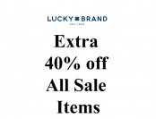 Extra 40% of All Sale Styles at Lucky Brand