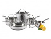 71% off Starfrit Element 18/10 Stainless Steel 10-Pc Pot & Pan Set