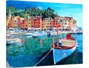96% off Tranquility of The Harbour of Portofino Gallery Canvas