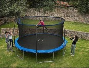 $70 off BouncePro 14' Trampoline with Enclosure and Spinner Game
