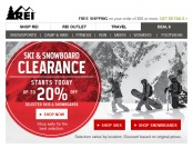REI Clearance Sale - Up to 20% of Ski & Snowboard Gear