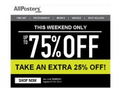 Allposters Semi-Annual Clearance Sale - Up to 75% off