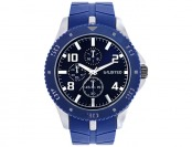 70% off Kenneth Cole Chronograph Watch with Blue Silicone Strap