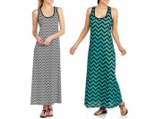 22% off Revolution Women's Chevron Stripe Tank Maxi Dress