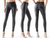 50% off Guess 1981 High-Rise Coated Ponte-Knit Skinny Jeans
