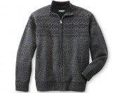 88% off Outdoor Life Men's Fleece-Lined Sweater Jacket