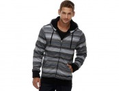 83% off Amplify Young Men's Hoodie Jacket - Striped Grid Print