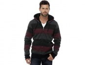 83% off Amplify Young Men's Hoodie - Striped Grid Pattern
