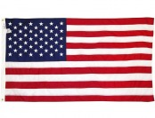 82% off U.S. Flag 3'x5' Embroidered Stars, Sewn Stripes, 210D Nylon