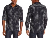 73% off Perry Ellis Men's Slim Fit Houndstooth Pattern Shirt