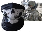 93% off Coxeer Black Skull Print Tubular Mask Balaclava