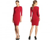 72% off London Times Three-Quarter Sleeve Pinch-Neck Dress