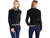 76% off DKNYC Women's Long Sleeve Asymmetrical Zip Jacket