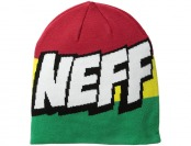 77% off Neff Men's Cartoon Beanie, Rasta