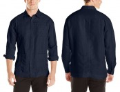 78% off Cubavera Men's Long Sleeve Embroidered Guaya Shirt