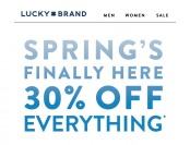Lucky Brand Sale - Save 30% off Everything