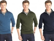 80% off IZOD Solid Heavy Jersey Quarter-Zip Jacket - Big & Tall