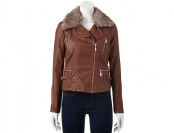 80% off J2 by Jou Jou Faux-Fur Collar Moto Jacket - Juniors