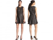 $100 off Sam Edelman Women's Faux-Leather Fit-and-Flare Dress
