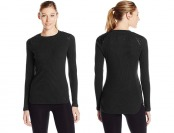 76% off Marc New York Women's Leather Trim Thermal Top