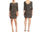 84% off Banana Republic Factory 3/4-Sleeve Dress, Animal print
