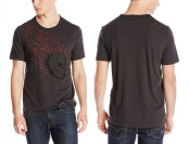 75% off John Varvatos Men's Flaming Skull Graphic Tee