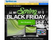 Tiger Direct Spring Black Friday Sale Event