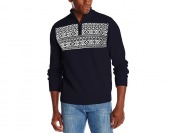 80% off Dockers Men's Chest Block Fairisle Zip Mock Sweater