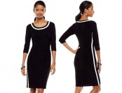 80% off Chaps Colorblock Sheath Dress