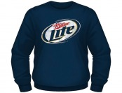 80% off Miller Lite Men's Fleece Crew