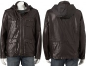 $160 off Levi's Men's Faux-Leather Utility Jacket, Black or Oxblood