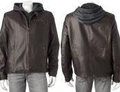 $144 off Levi's Men's Faux-Leather Hooded Racer Jacket