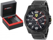 $324 off Ferrari Men's Analog Display Black Watch