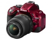 38% off Red Nikon D5200 24.1MP Digital SLR with 18–55mm VR Lens
