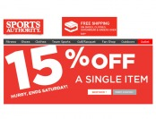 Sports Authority Flash Sale - Extra 15% Off Any Single Item