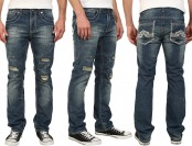 $95 off Antique Rivet Derrick Men's Straight Leg Jeans in Monte